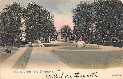 C09-5746, Cooper Park, Cooperstown, Ny. 1906 Postmarked.