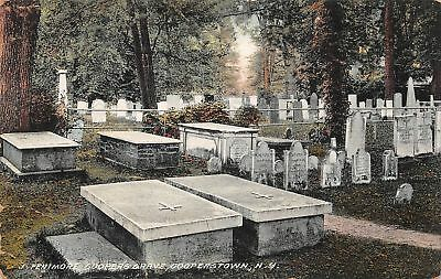 C09-5751, Coopers Grave, Cooperstown, Ny. 1910S Postcard,