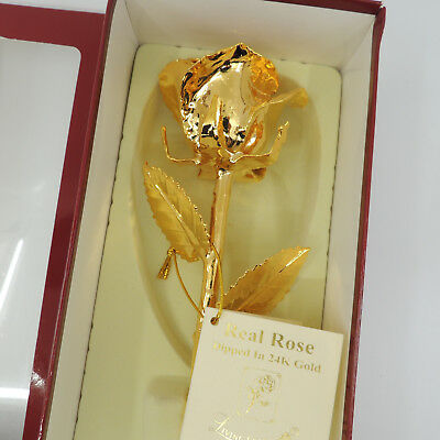 Living Gold Real Rose Dipped 24K Gold