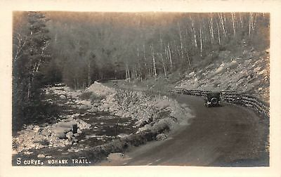 C09-5818, Real Photo Postcard, S Curve, Mohawk Trail,