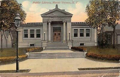 C09-5822, Public Library, Mt. Vernon, Ny. 1913 Postmarked.