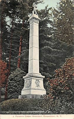 C09-5883, J. Fenimore Cooper Monument, Cooperstown, Ny. 1910S Postmarked.