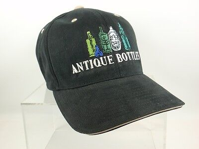 Black Antique Bottle Hat - Free Shipping