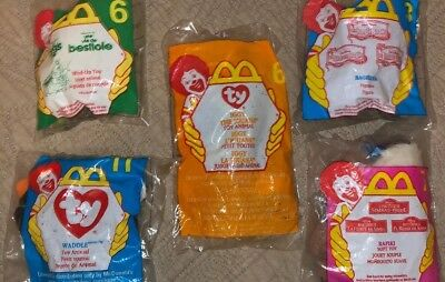 McDonald's TY BEANIE AND DISNEY Happy Meal Toys LOT Offers ACPT