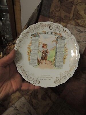 Antique 1913 Advertising Calendar Plate Carnation McNicol ~ Grocery Store