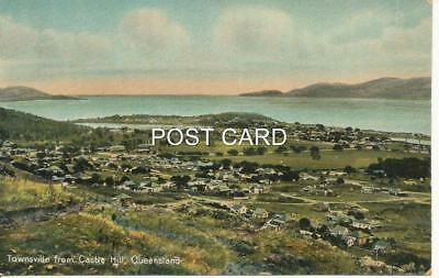 """Early 1900`s Townsville Post Card. """"townsville From Castle Hill"""". Unused"""