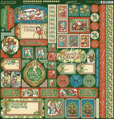 "Christmas Magic Cardstock Stickers 12""X12""-"