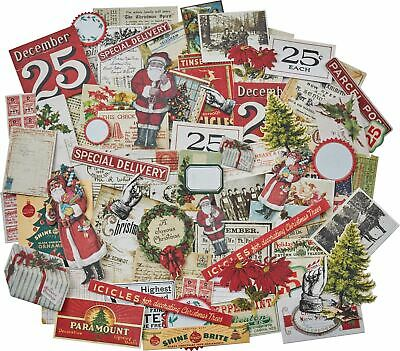 Idea-Ology Ephemera Pack 86/Pkg-Snippets Tiny Die-Cuts/Christmas