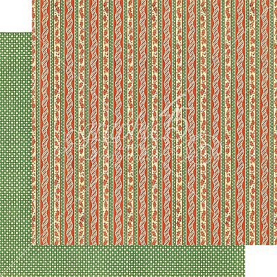 "Christmas Magic Double-Sided Cardstock 12""X12""-Candy Cane Ribbons"