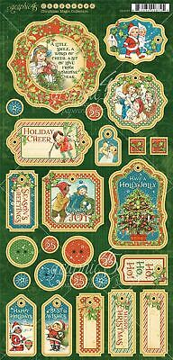 "Christmas Magic Chipboard Die-Cuts 6""X12"" Sheet-Decorative & Journaling"