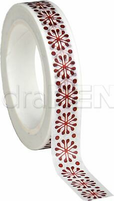 Alexandra Renke Red Christmas Washi Tape 10mmX10m-Red Flakes