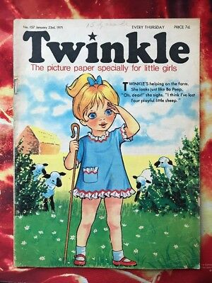 Twinkle  Comic No. 157. 23 Jan 1971 Dress Twinkle Page Has Colouring.