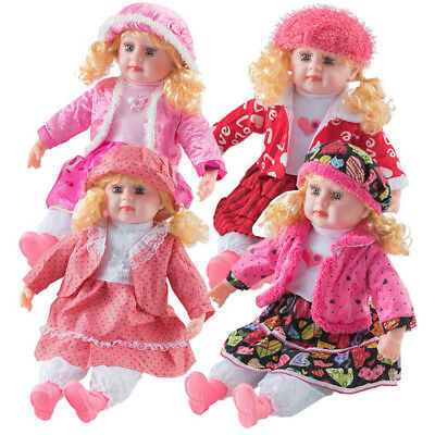 "24"" Lifelike Large Size Soft Bodied Baby Doll Girls Boys Toy With Dummy & Sounds"