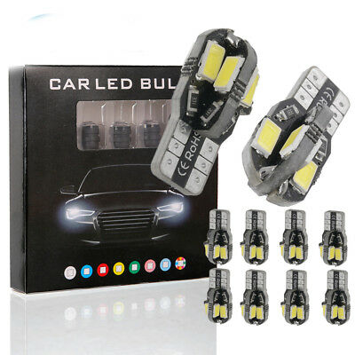 5Pcs Canbus T10 5630 / 5730 8 SMD LED Car Side Wedge Light Bulb Width Lamp
