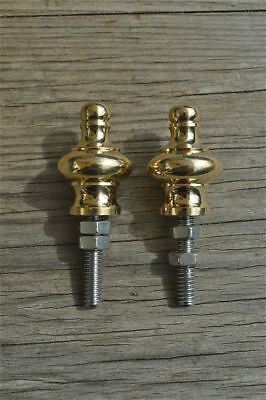 A pair of superb quality antique brass furniture clock finials finial Z2