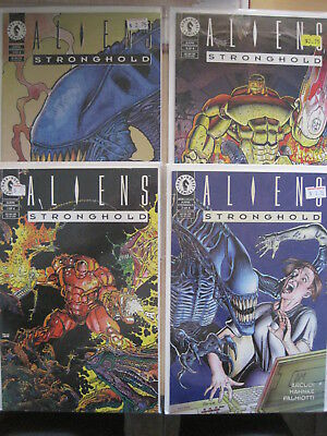 ALIENS , STRONGHOLD : COMPLETE 4 ISSUE (1,2,3,4) Dark Horse 1994 SERIES. ARCUDI