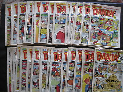 DANDY : A BUNDLE of 51 DIFFERENT COMICS BETWEEN 5.10.91 and 1.1.94