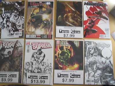 VARIANTS : BUNDLE of 8 DIFFERENT MARVEL VARIANT COMICS. VFN-NM. MOON KNIGHT etc