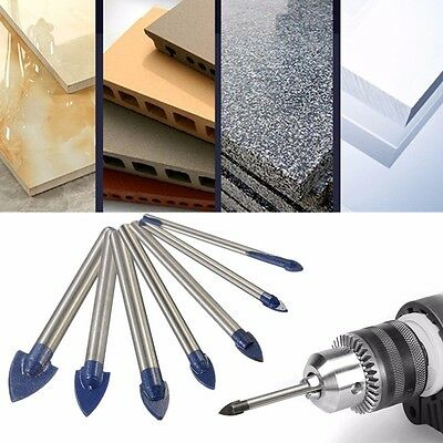 Carbide Triangle Drill Bit Punch for Glass Ceramic Marble Diamond Ø 3mm - 10mm