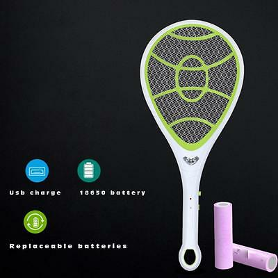 Bug Zapper Electric Tennis Racket Mosquito Fly Swatter Killer Insect Handheld>