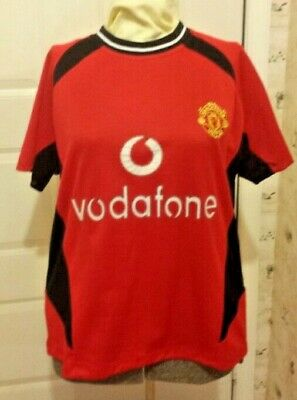 a6df8048c Manchester United Ronaldo  7 Vodafone Jersey Soccer Shirt   Lg   Black   Red