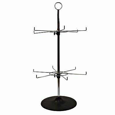 12 Hook Rotary 2 Tiered Counter Top Stand (J4/6)
