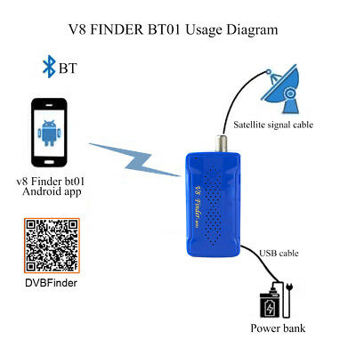 DVB-S2 Freesat V8 Finder BT01 Digital Satellite Finder 1080p bluetooth satFinder