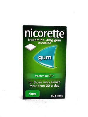 Nicorette Freshmint Chewing Gum, 4 mg, 30 Pieces (Stop Smoking Aid)