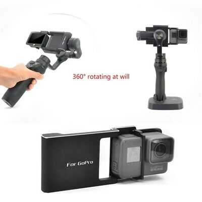 For GoPro Hero 6 5 4 3+ DJI Osmo Mobile Gimbal/ Smooth C/Q/2 Adapter Mount Plate