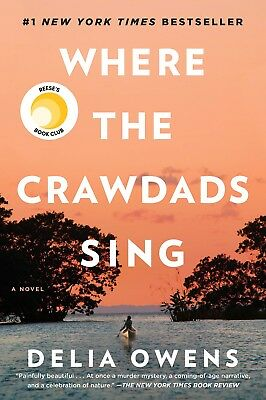 Where the Crawdads Sing by Delia Owens (Hardcover) –2018 No TAX