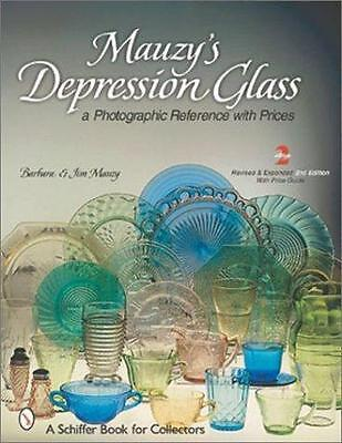 Mauzy's Depression Glass - Photographic Reference with Prices - B & J Mauzy -Exc