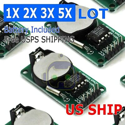 DS1302 Clock Module with Battery Real-Time Clock Module RTC for Arduino AVR I1P7
