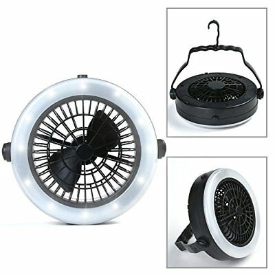 new Version 2in1 Fan And-ultralight 12 Led Hanging/standing/torch Garden Light F