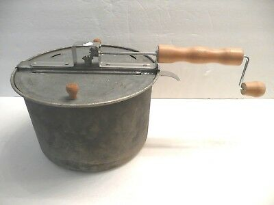vintage Whirley Pop Popcorn Popper  Stove Top  outdoor cooking grill campfire
