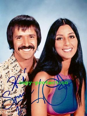 G11-2215 Sonny & Cher Bono, Autogramm Foto, 11x15 cm, and the beat must goes on