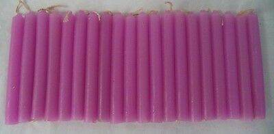 """Chime Spell Candles: Pink, Mini 4"""" Set of 20 (NEW) Pagan, Wicca, Altar"""