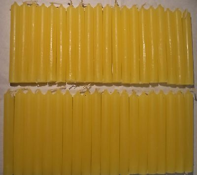 """40 Mini 4"""" Chime Spell Candles: Yellow (Wicca, Altar, Ritual) 2 x 20"""