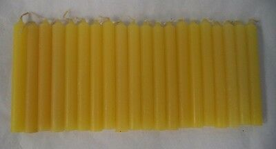 """Chime Spell Candles: Yellow, Mini 4"""" Set of 20 (NEW) Pagan, Wicca, Altar"""