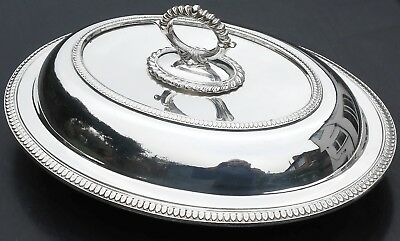 Vintage Silver Plated Entree Serving Dish - Detachable Handle