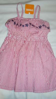 NEW Girls Size 4T Gymboree Dress 2018 Summer Line Red White Stripes & Blue Stars