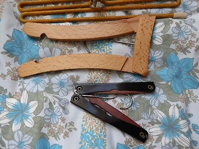3 Collectable Vintage Coat Tie Hangers 2 folding travel