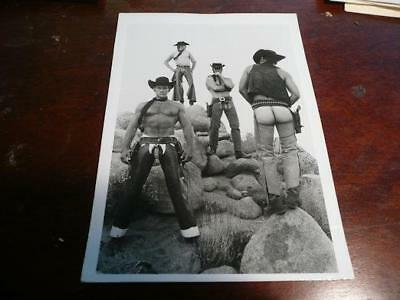 vintage nude man black and white photograph 7 X 5 gay interest cowboys