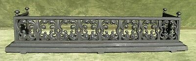 Antique Victorian Cast Iron Fireplace Fender
