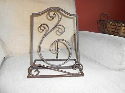 Home and Garden/Wrought Iron in Collectibles/Decorative/ Iron Recipe Holder