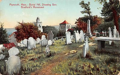 C09-7520, Barial Hill, Plymouth, Mass. 1910S Postcard,