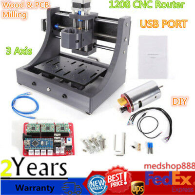 3 Axis USB Mini CNC 1208 Router Engraving Machine 8000r/m Spindle 3D Printed DIY