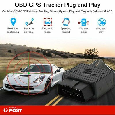 OBD II OBD2 Car Vehicle Truck GSM GPS Tracker Locator Real Time Tracking Device