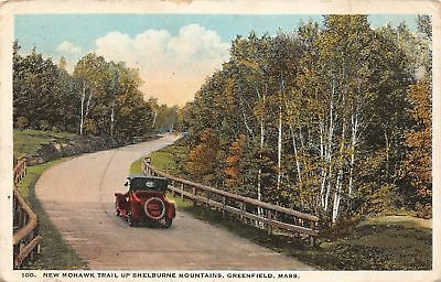 C09-7656, New Mohawk Trail Up Shelburne Mts., Greenfield, Mass. 1923 Postmarked.