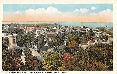 C09-7695, View From Abbot Hall, Marblehead, Mass. 1920S Postcard,