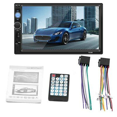 "7"" Inch Double 2 DIN Car FM Stereo Radio USB/MP5 Player Touch Screen Bluetooth"